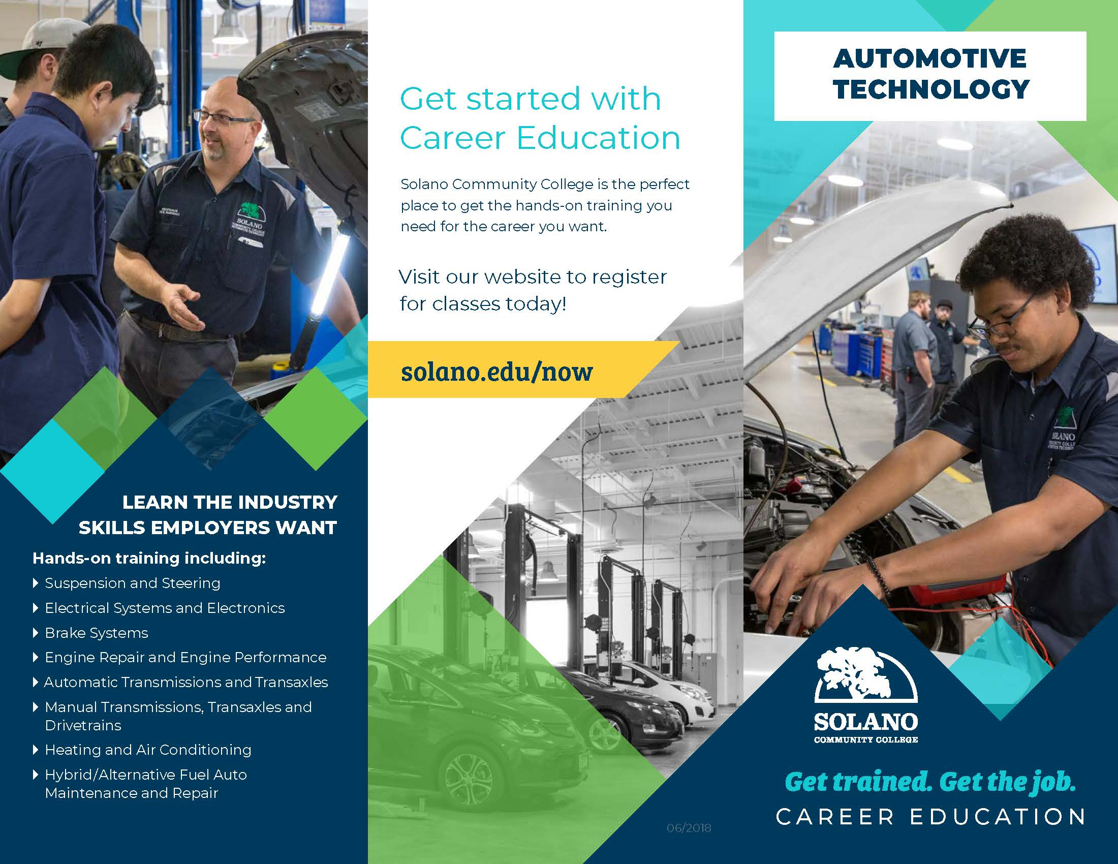 Brochure contents available in Automotive Technician Brochure link