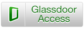 Glassdoor Logo, green letters on grey background