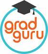 Grad Guru Logo with Diploma Hat on top