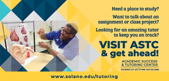 Need a place to study? Want to talk about an assignment or class project? Looking for an amazing tutor to keep you on track? Visit ASTC and get ahead!