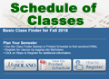 Image Link, Schedule of Classes