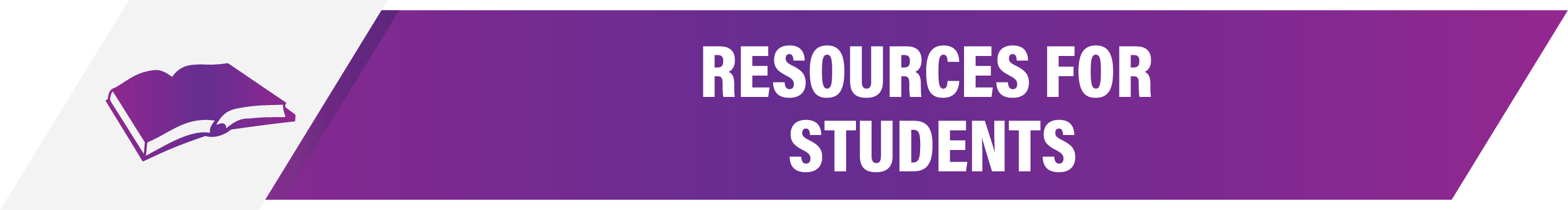 Solano College Resources for Students, white text on dark Purple background with image of a open book to the right.